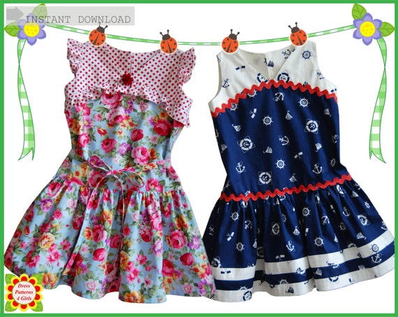 GATSBY Girls DRESS PATTERN Free MotherDaughter Apron Etsy Adorable Children's Clothing Patterns