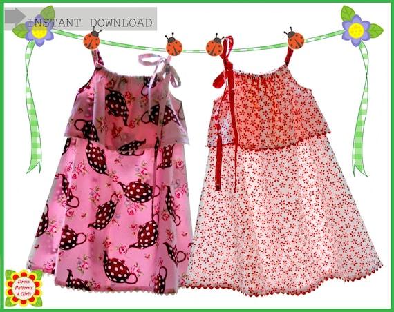 Silly Milly Pillowcase Girls Dress Pattern Free Etsy