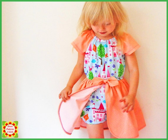 Princess Romper Dress Sewing Pattern For Girls Free Etsy