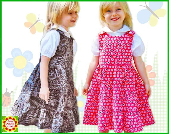 TWIRLY GIRLY Jumper Dress Pattern for Girls + Free Mother-Daughter ...