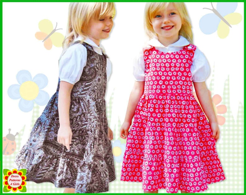 a7583112c TWIRLY GIRLY Jumper Dress Pattern for Girls Free
