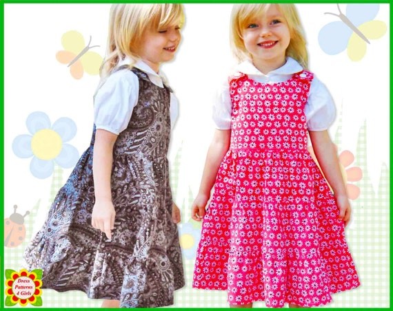 5bc8b914b872 3-Tier Jumper Dress Pattern for Girls Free Mother-Daughter