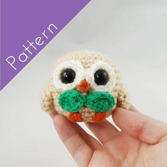 Rowlet Amigurumi Crochet PATTERN Pokemon | Etsy