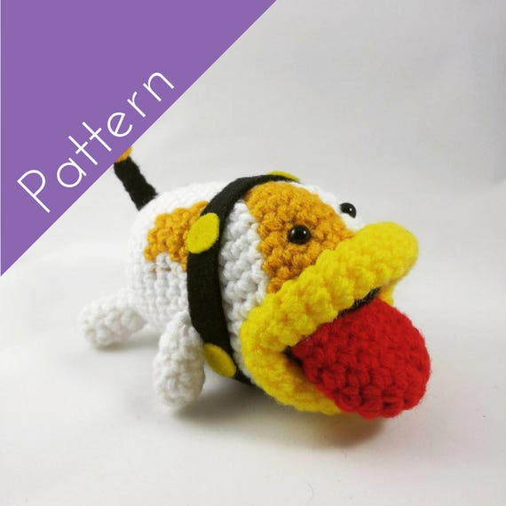 Poochy Amigurumi Crochet Pattern Yoshis Woolly World Etsy