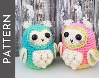 Loveby the Owl PATTERN - heart face owl amigurumi crochet pattern