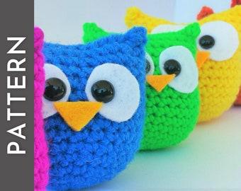 No Sew Owl - Amigurumi Crochet PATTERN - easy, quick, beginner friendly tutorial