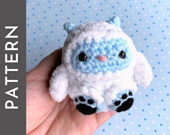 Yeti Bean PATTERN - crochet PDF pattern - abominable snow monster amigurumi