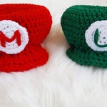 Crochet Mario and Luigi Inspired Character Hat