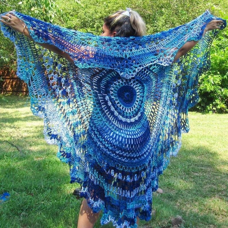Ready To Ship Crochet Beach Waves Bohemian Vest image 0
