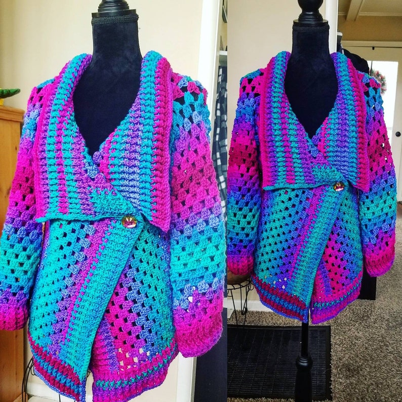 Ready To Ship Today. Northern Lights Crochet Jacket image 0