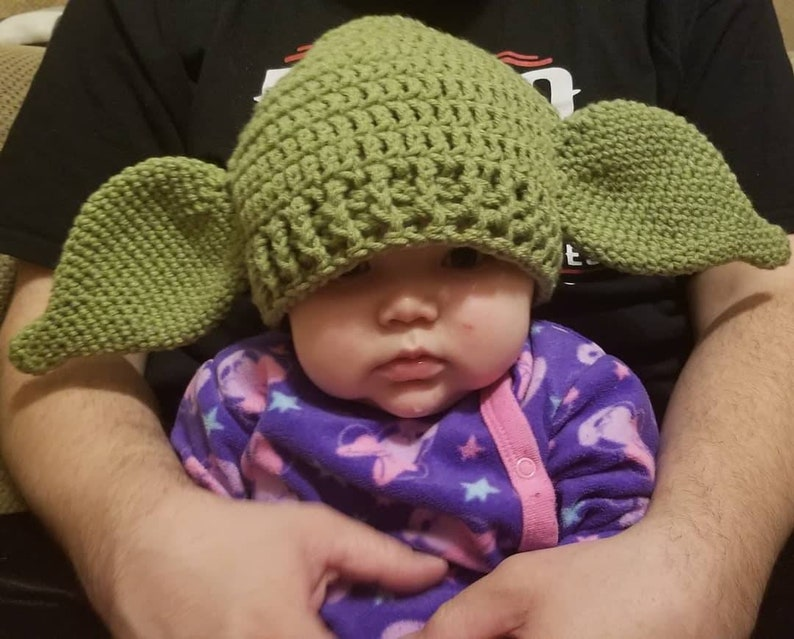 Crochet Yoda Inspired Hat Made to Order image 0