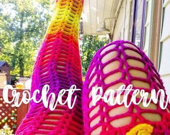 DIGITAL PATTERN Crochet Thigh High Sock Pattern PDF Only
