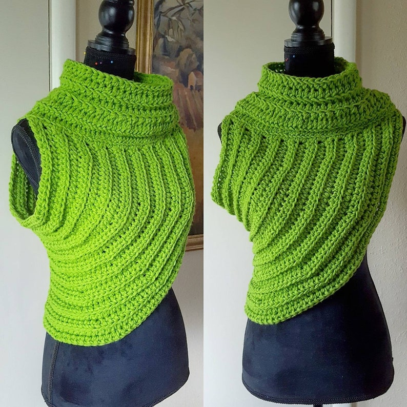 Ready to Ship Today Avocado Green Crochet Pullover Vest Size image 0