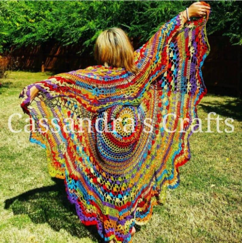 Crochet Bohemian Vest Made To Order image 0