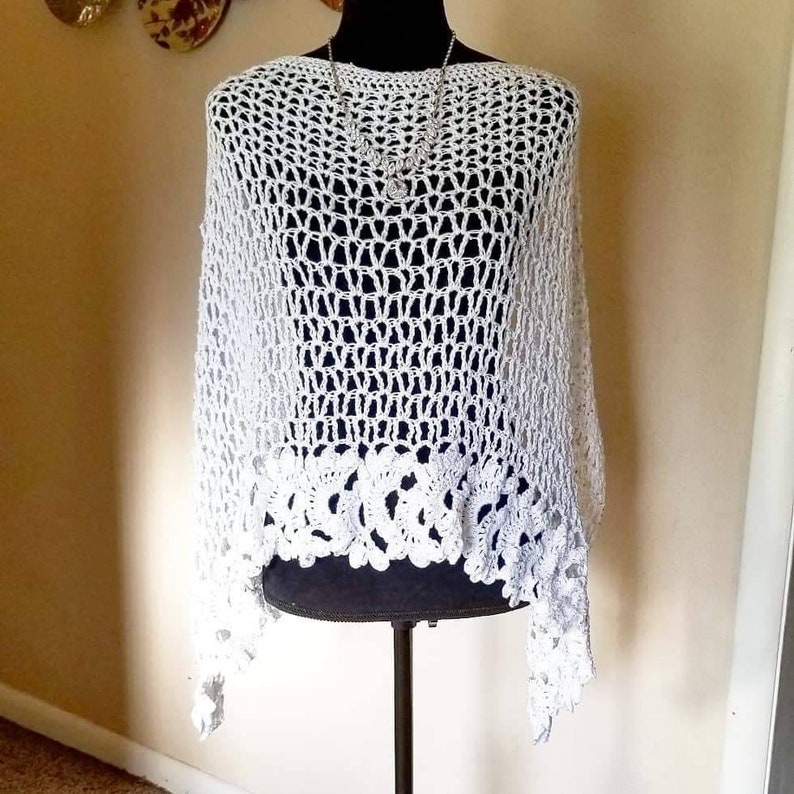 Ready to Ship Crochet Simply Gorgeous Wrap Wedding Shawl image 0