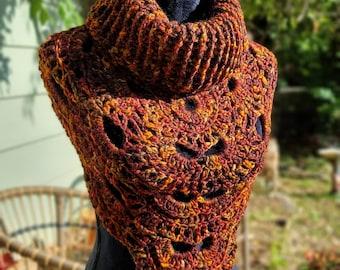 Fall Crochet Bandana Cowl