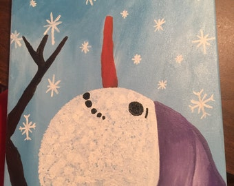 Snowman Catching Snowflakes