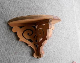 scrolly wood shelf