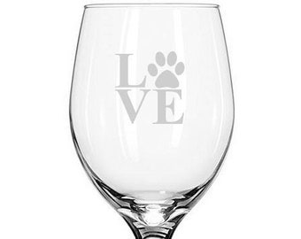 Gift Bag Handmade Paw Print Wine Glass Charms x 6 Animals Pets Dogs Cats Gifts