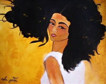 Transition to Natural - Natural Hair Art Print 10x8
