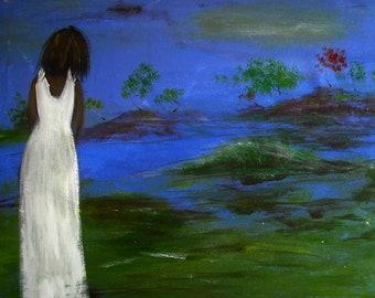 SOUL ISLAND - Art Print of Original Painting Soul Series 10x8