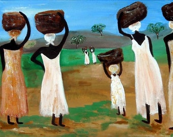 REPLENISHED SOULS - Art Print of Original Haiti Inspired Painting