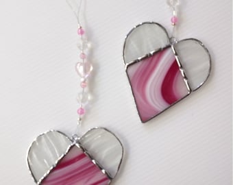 10mm Rosaline Heart Beads Light Pink Czech Glass Vintage Hearts Love and Friendship Themed Charms Earrings Valentines Day 12