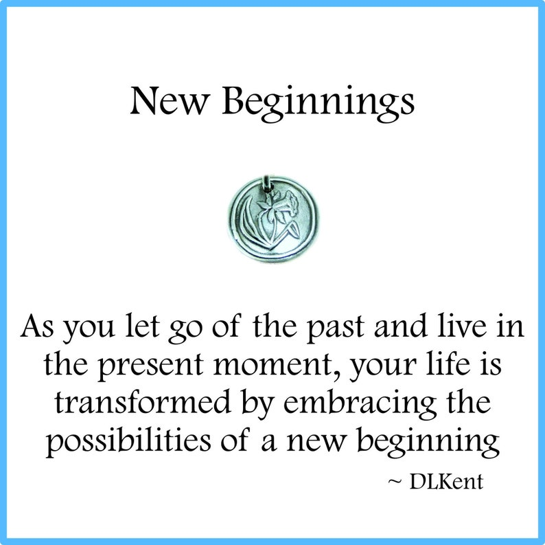 NEW BEGINNINGS Tiny Silver Daffodil Charm Inspirational image 0