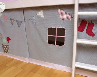 Vorhang Set Etagenbett : Vorhang fuer hochbett etsy