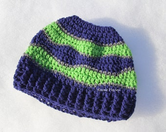 Seahawks Messy Bun Hat, Seahawks Ponytail Hat, Ponytail Hat, Seahawks Pony Tail Hat, Seahawks Hat, Man Bun Hat, Man Hat, Seahawks