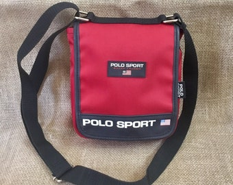 9f57032463d3 Vintage Polo Sport by Ralph Lauren Messenger Crossbody Bag Purse