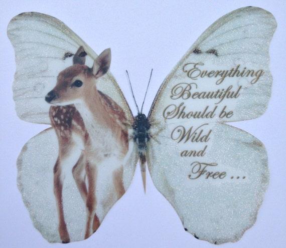 Table Decorations Butterflies 2 Beautiful Love Birds Romantic Verse 3D Favors