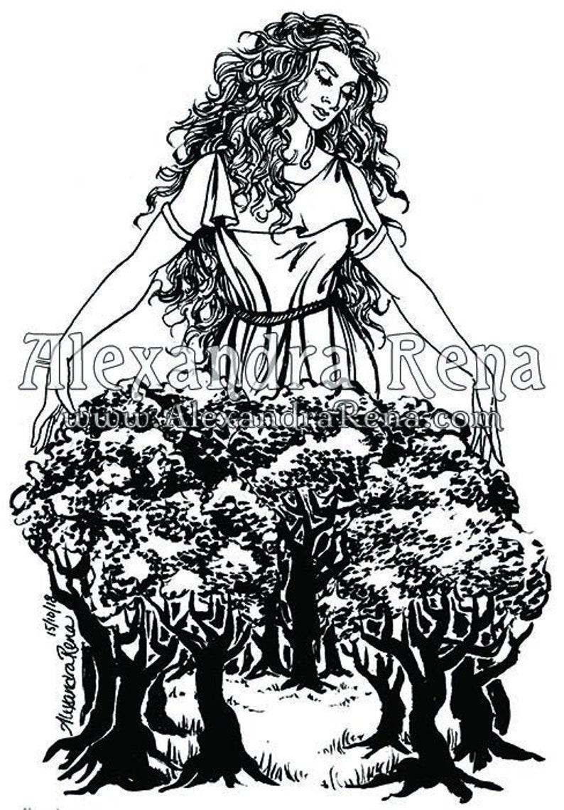 Nemetona Goddess Art Print 5x7   Etsy