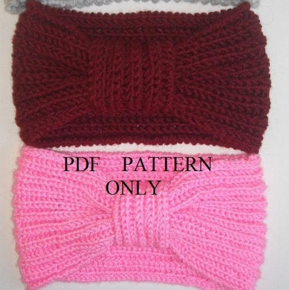 Pdf Pattern Easy Knit Headband Pdf Pattern 2 Hours Knit Etsy