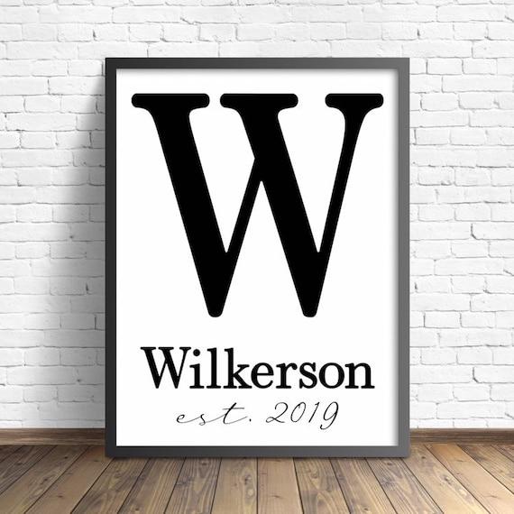 Large Last Name Established Wood Sign