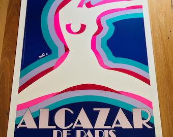Original vintage poster ALCAZAR DANCE REVUE PARIS GIRL 1977