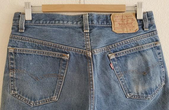 Vintage 501 Levis Jeans 35x34 Distressed Blue Jea… - image 7