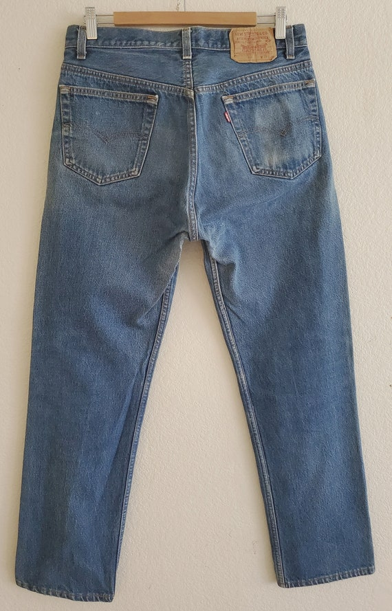 Vintage 501 Levis Jeans 35x34 Distressed Blue Jea… - image 6
