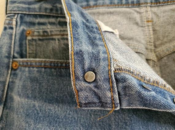 Vintage 501 Levis Jeans 36x34 Distressed Blue Jea… - image 10