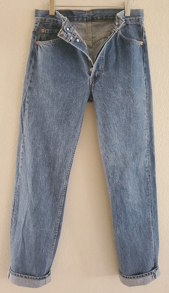 Vintage 501 Levis Jeans 30x34 Made in USA Blue Jea