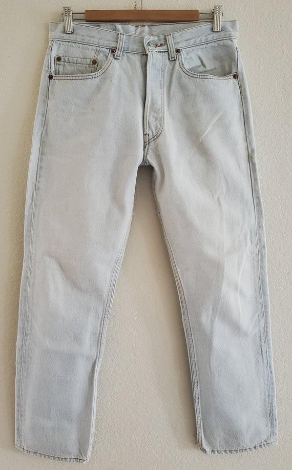 Vintage 501 Levis Jeans 33x30 Light Blue Jeans Mad