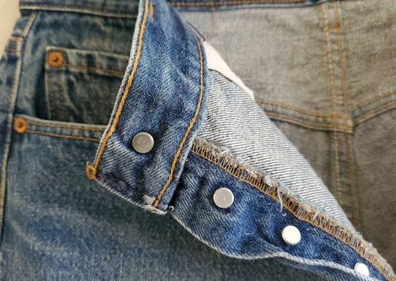 Vintage 501 Levis Jeans 35x34 Distressed Blue Jea… - image 10