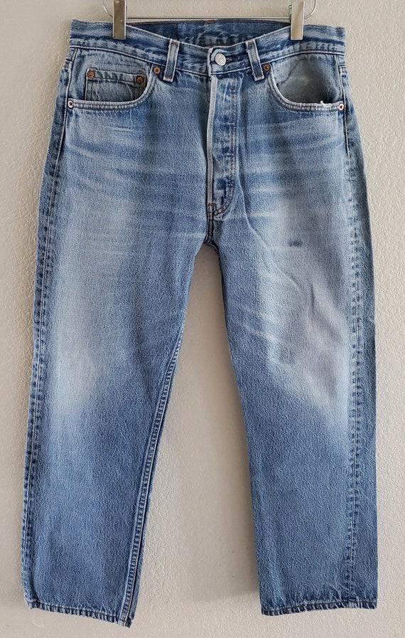 Vintage 501xx Levis Jeans 35x30 Distressed Blue Je