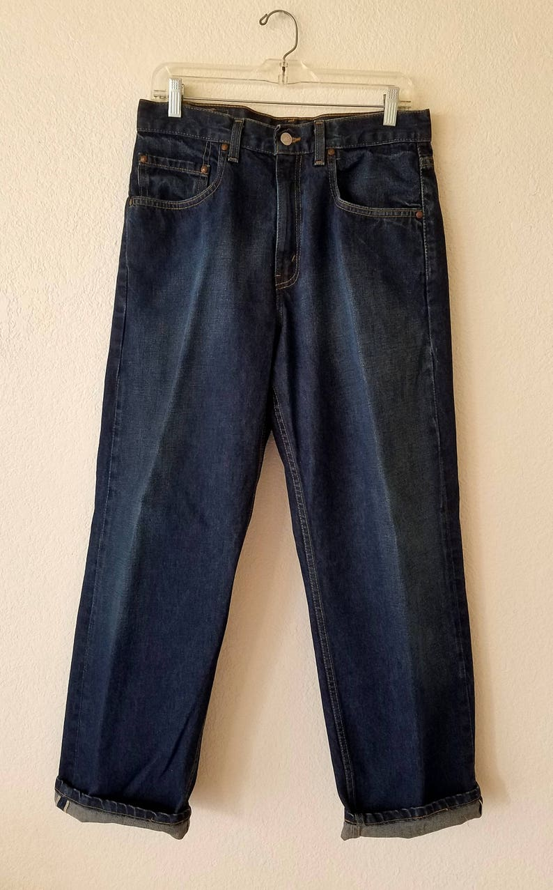 569 Levis Selvedge Jeans Made In Usa Denim 31x30 American 80s Etsy