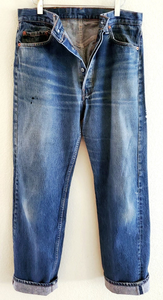 Vintage 501xx Levis Jeans 35x36 Made in USA Distre