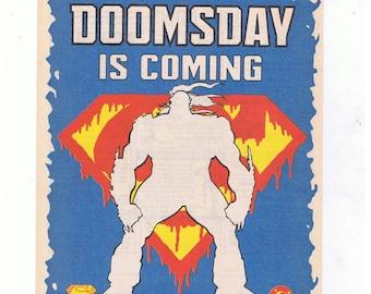7x 80s & 90s Superman DC Comic Book Advertisement Pages