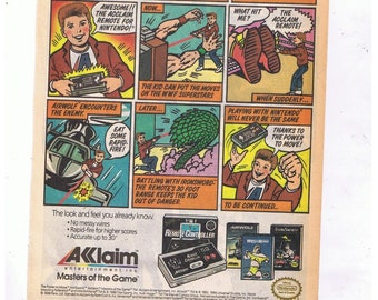10x Vintage NES Nintendo Video Game Advertisements