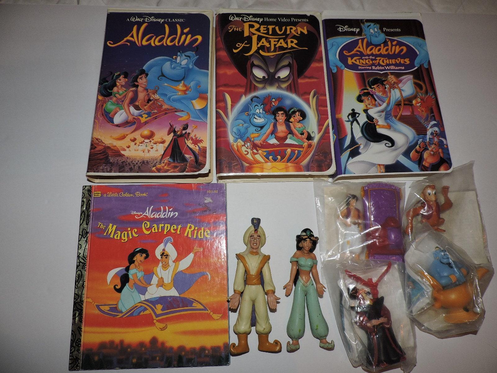 Lot Of Aladdin Walt Disney Vhs Tapes Book Toys Figures Etsy