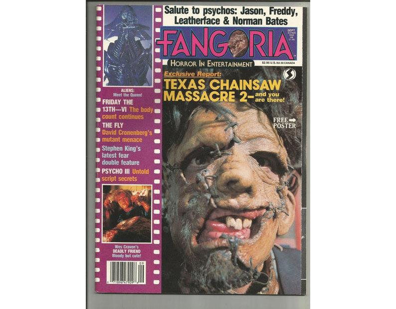FANGORIA Horror/Scifi Movies Entertainment Magazine Issue #57 1986 Texas  Chainsaw Massacre 2 Cover, Poltergeist Poster