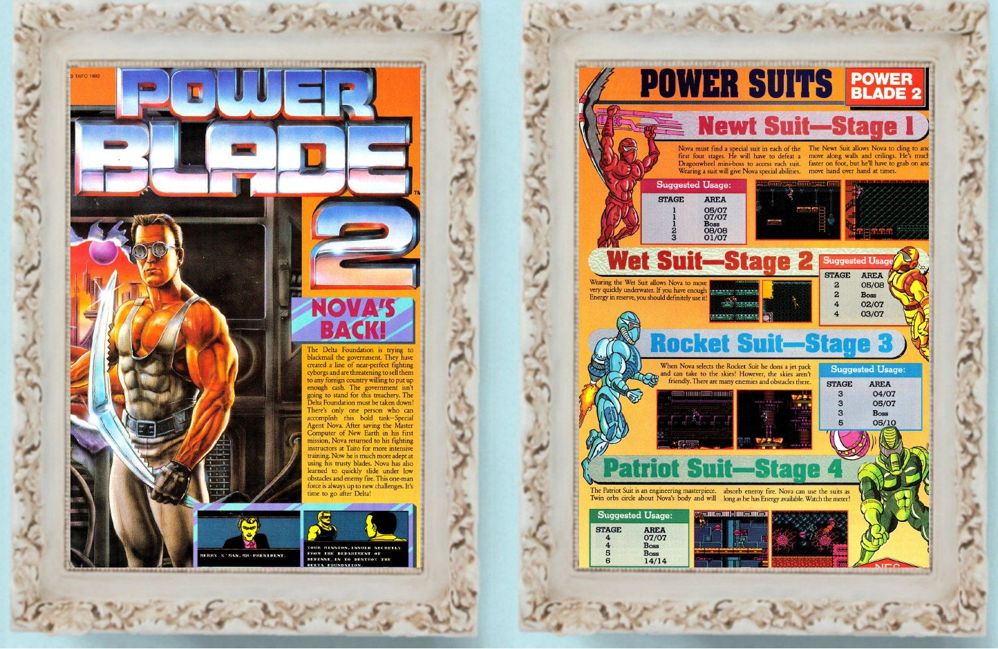 1992 Power Blade 2 Nes Nintendo Page Vintage Video Game Ad Powerblade Pro Boot Only Zoom